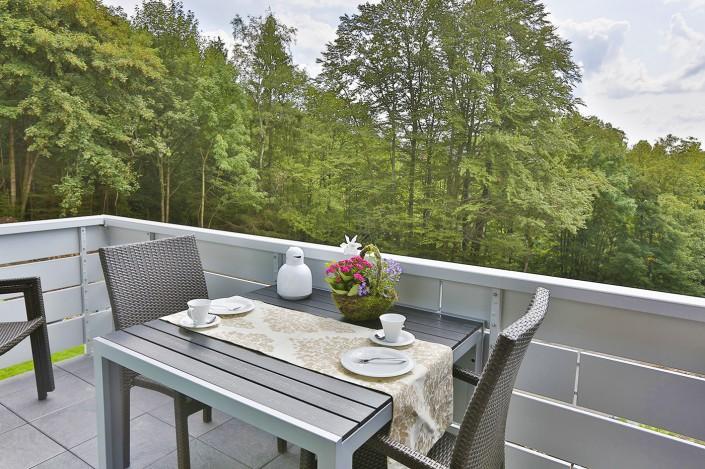 Ferienwohnung Akelei Balkon