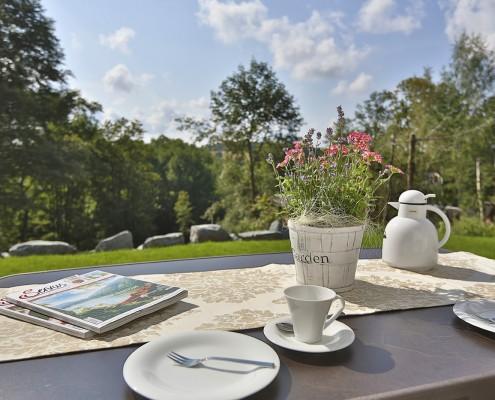Ferienwohnung Arnika Terrasse