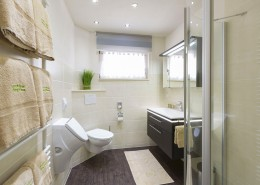 Ferienwohnung Akelei Badezimmer