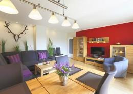 Ferienwohnung Akelei Wohnzimmer